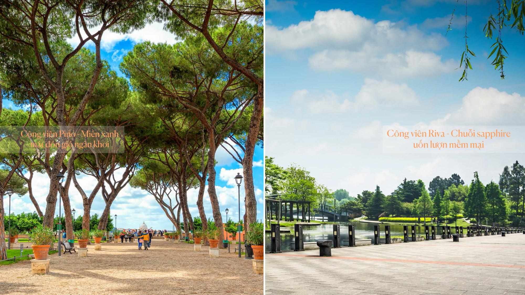 Công viên Pino Park và Riva Park